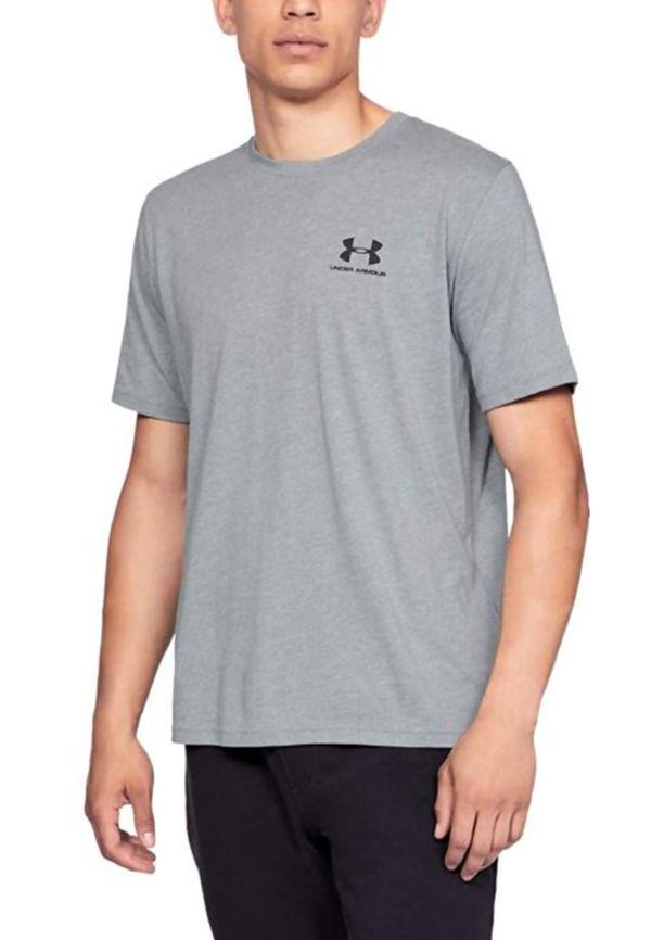 Grey Under Armour Graphic Logo Tee