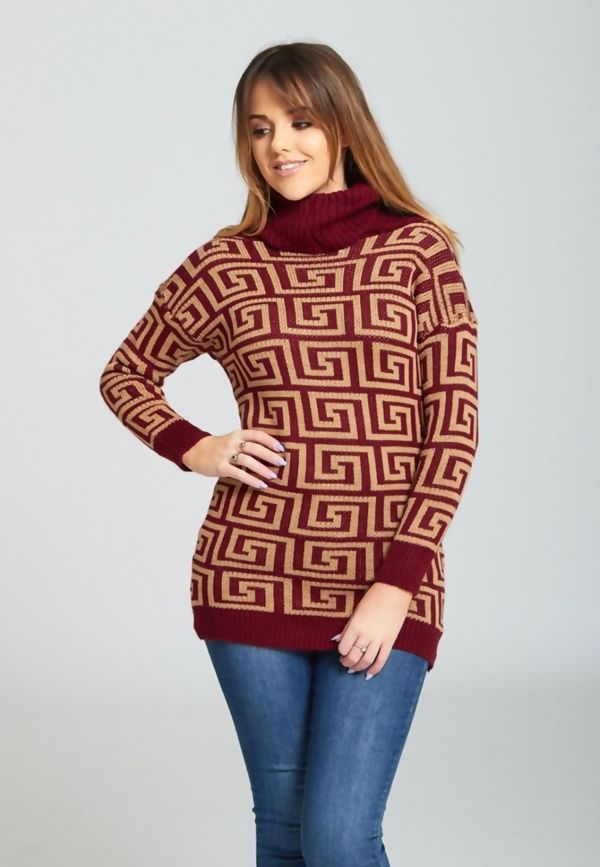 High Polo Pattern Jumper