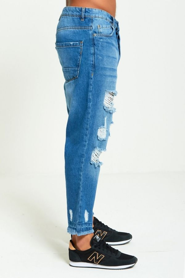Hem Distressed Jeans