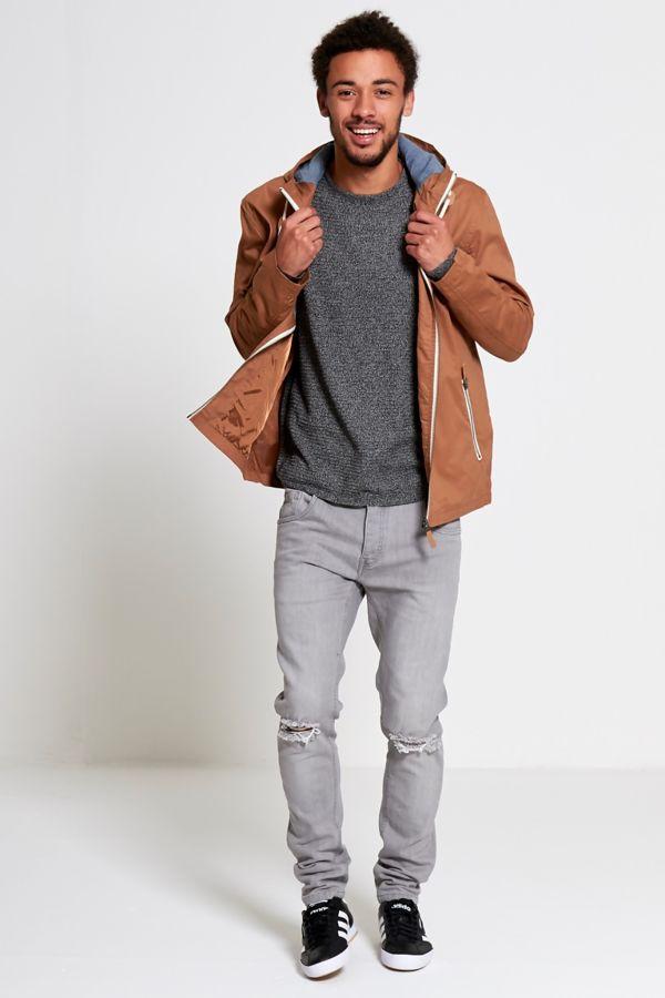 Camel Light Weight Hood Jacket