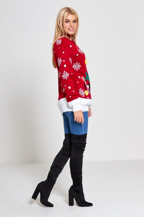 Red Merry Christmas Xmas Jumper
