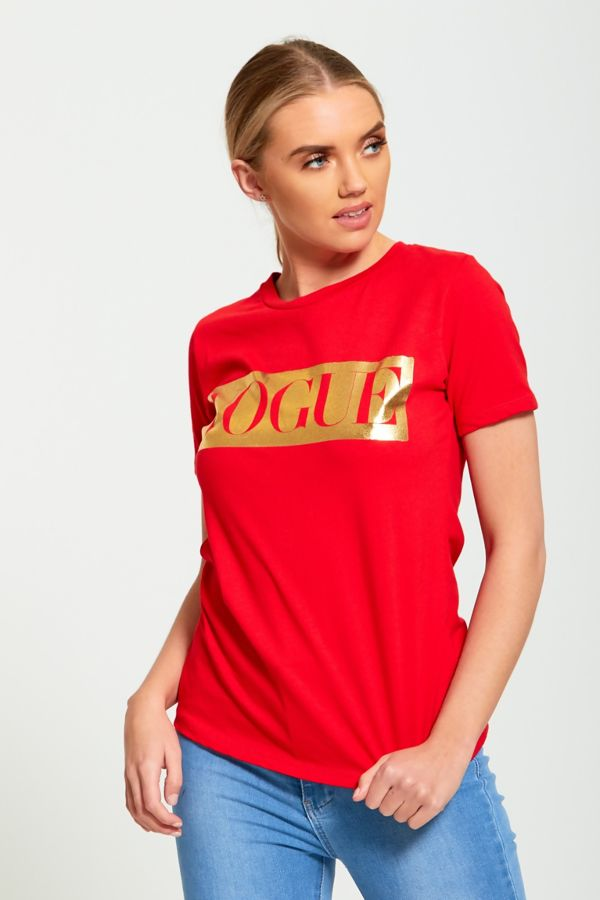Red Glitter Vogue T-Shirt