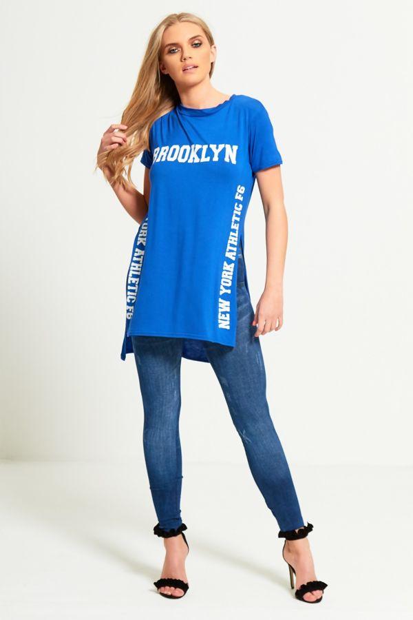 Plus Size Royal Brooklyn Split Side T-Top