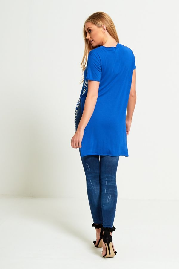 Plus Size Royal Brooklyn Split Side T-Top