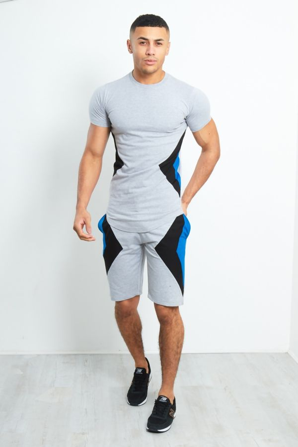 Contrast Triangle Panel Short Tracksuit