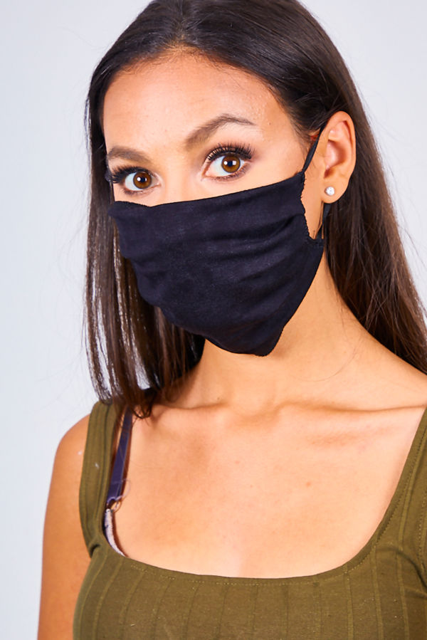 Black Viscose Face Mask