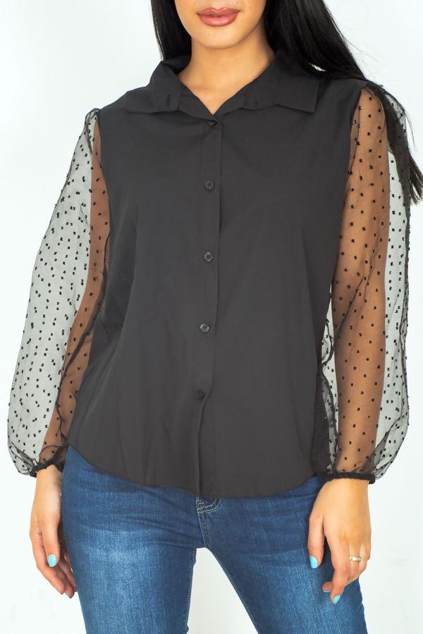 Polka Flounce Shirt