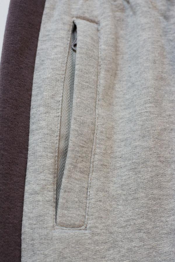 Kids Grey With Mocha Stripe Trouser