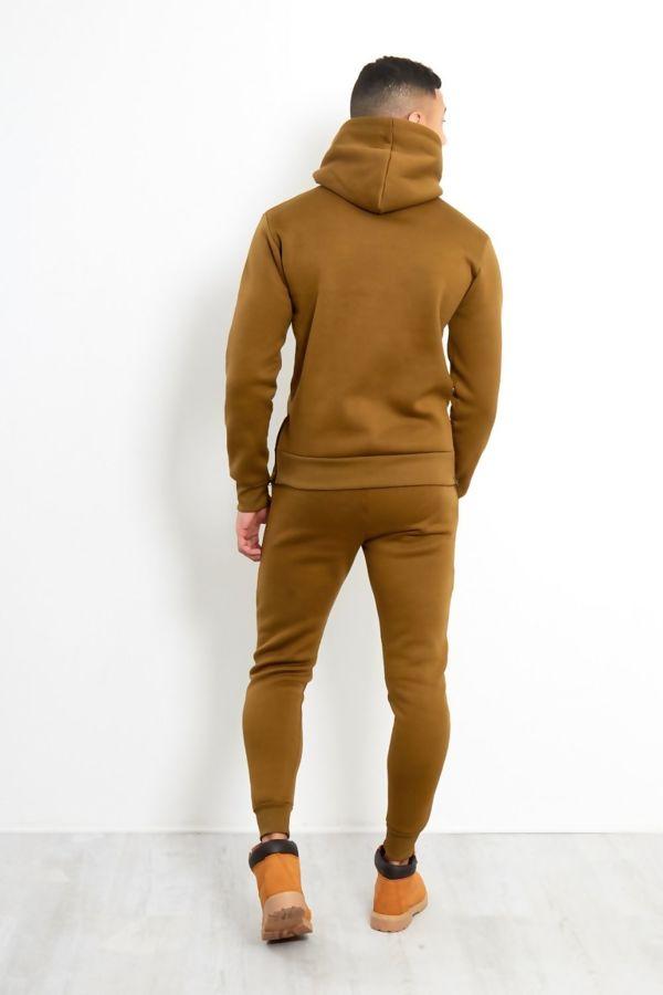 Khaki Block Hem Zipper Pullover Tracksuit Pre-Order
