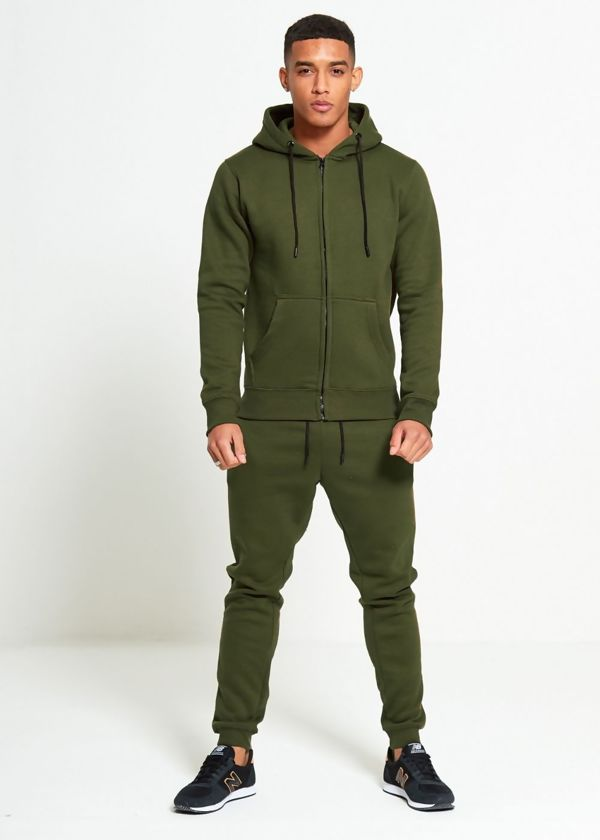 Khaki Block Hooded Tracksuit