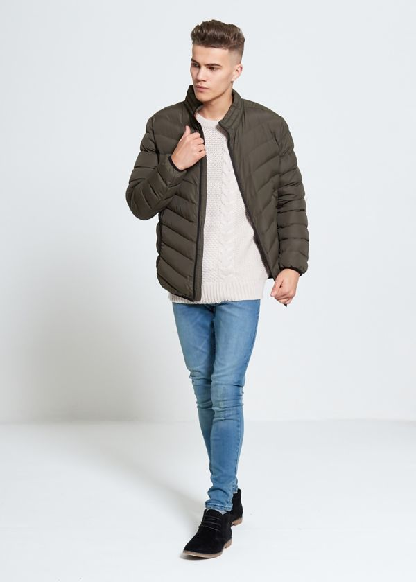 Khaki Bubble Jacket