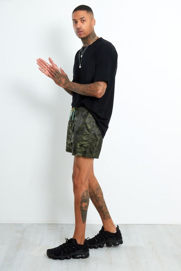 Khaki Camo Swim Shorts
