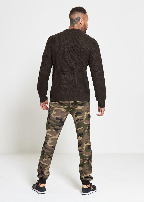 Khaki Chain Knitted Jumper