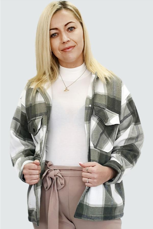 Khaki Checked Jacket