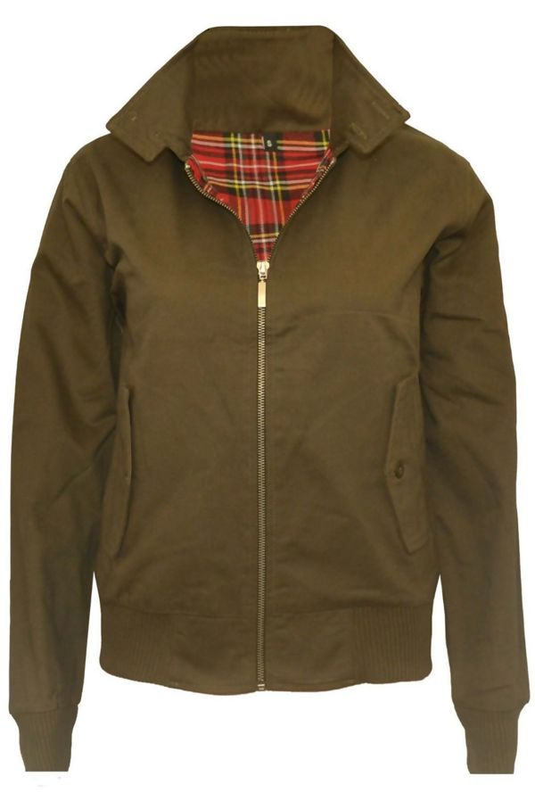 Khaki Classic Harrington Biker Jacket