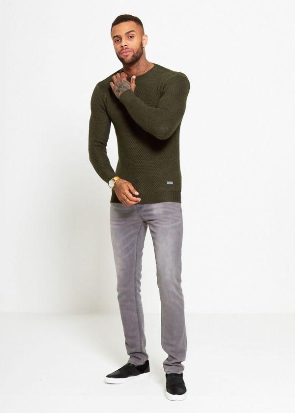 Khaki Fisherman Knitted Jumper