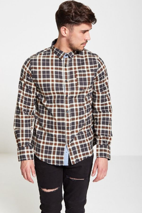 Khaki Ging Checked Shirt