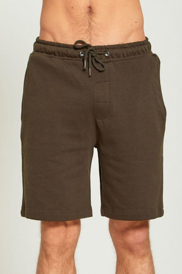 Khaki Jersey Sweat Shorts