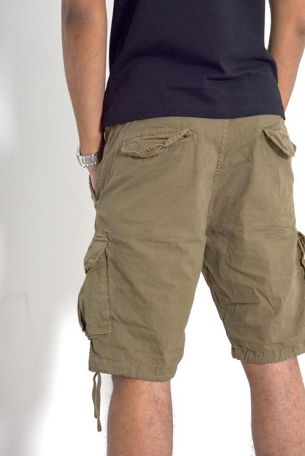 Khaki Manchester Utility Shorts