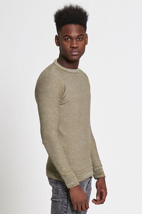 Khaki Marl Knitted Jumper