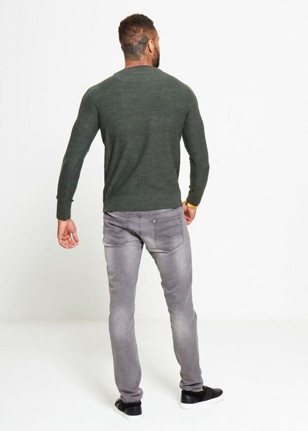 Khaki Plain Contrast Jumper