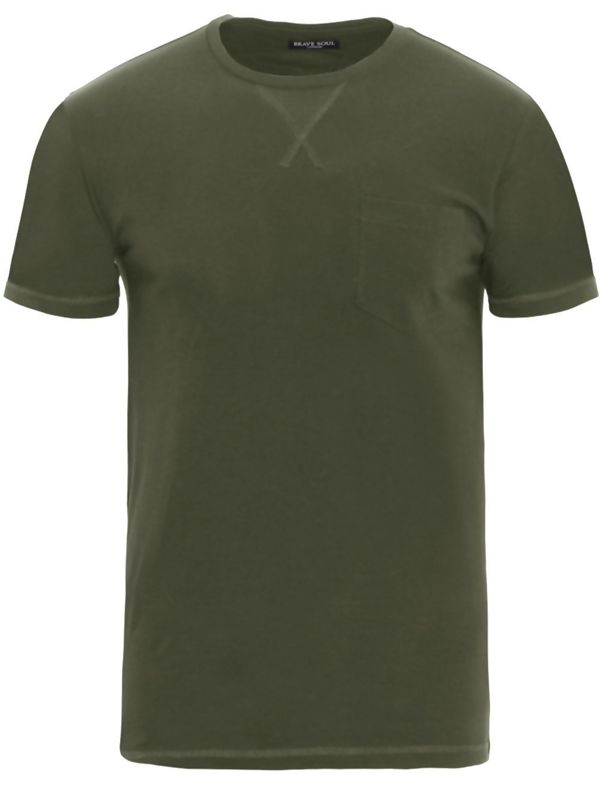 Khaki Short Sleeve Summer T-Shirt