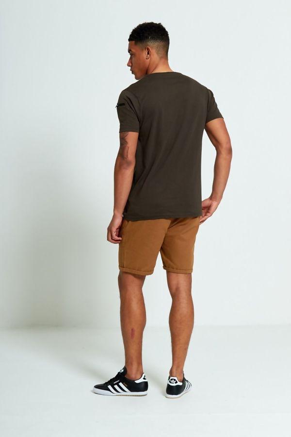 Khaki Shoulder Pocket T-Shirt