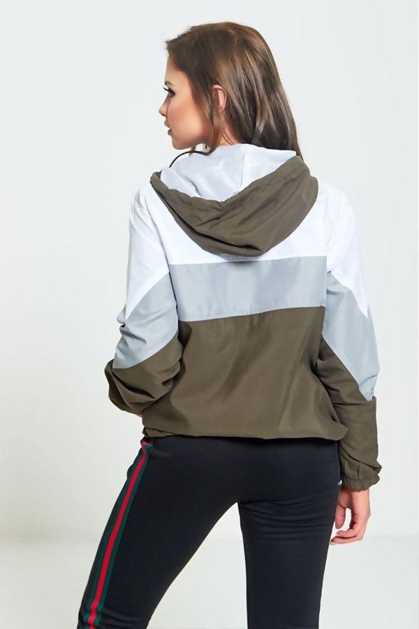 Khaki Two Tone Cagoule Jacket