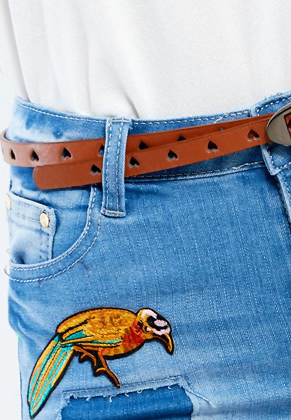 Kitty Heart Punch Belt