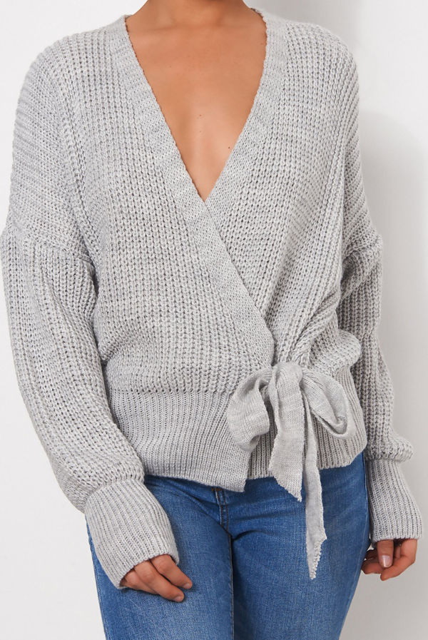 Knitted Wrap Cardigan
