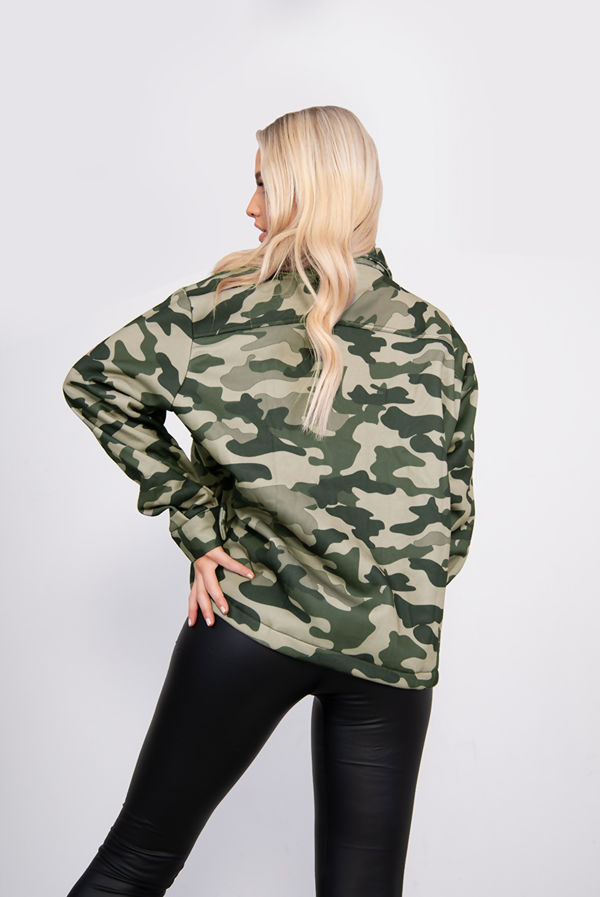 Khaki Camo Shacket