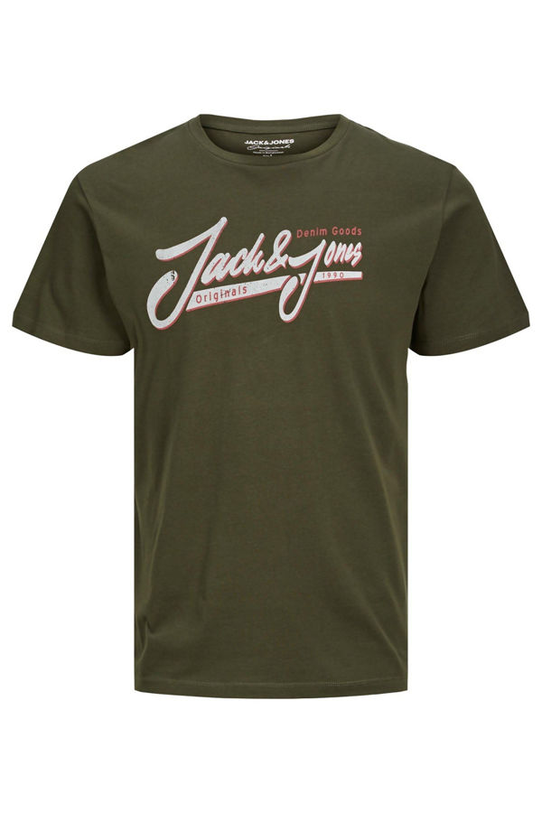 Khaki Jack & Jones Jorversion Tee