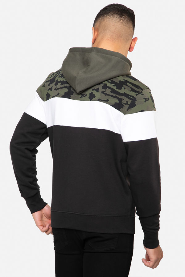 Khaki Raddo Colour Block Camo Hoody