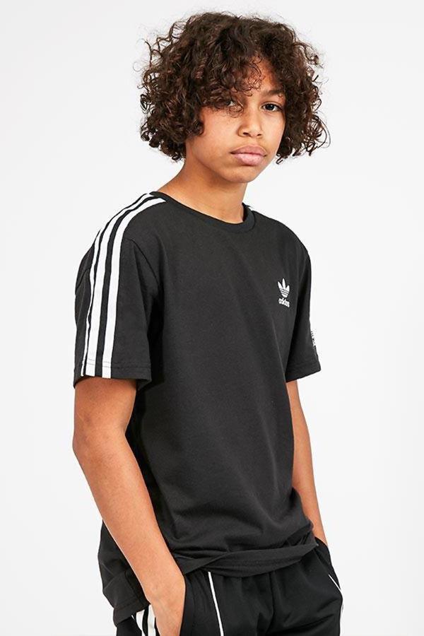 Kids Black Adidas Originals New Icon Tee