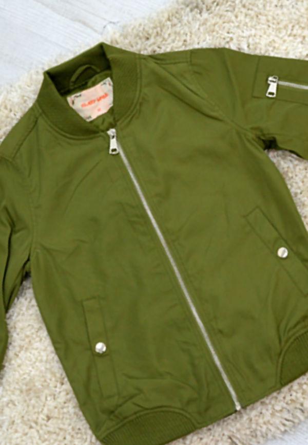 Kids Khaki Bomber Jacket