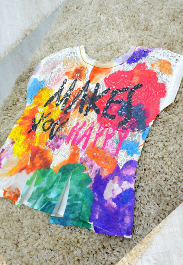 Kids Make You Happy Floral T-Shirt