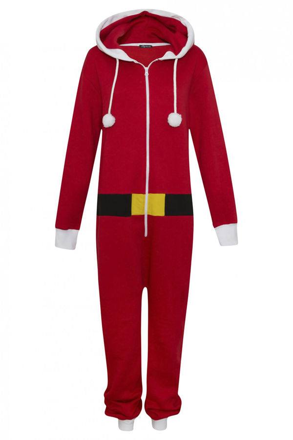 Kids Red Novelty Santa Christmas Onesie