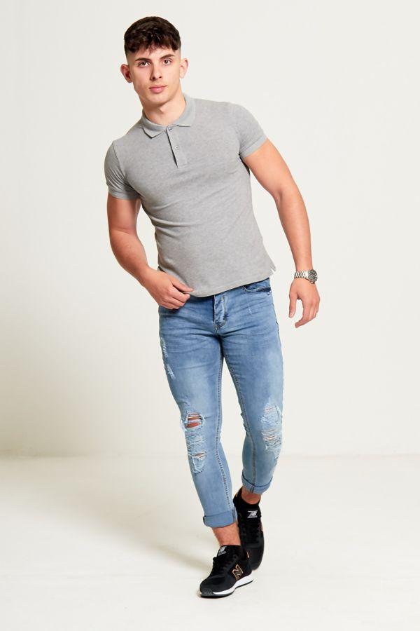 Distressed DetailSkinny Fit Denim Jeans