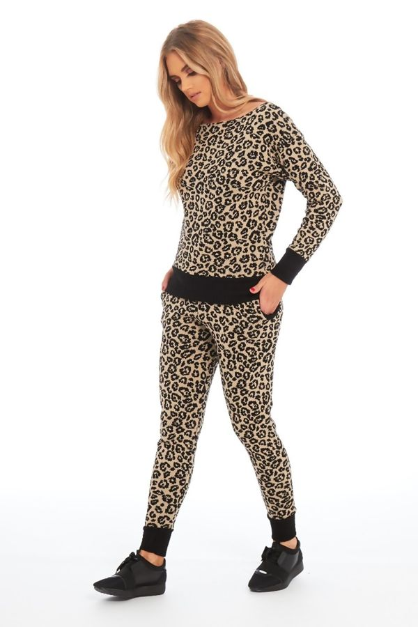 Leo Print Lounge Wear Knitted Set