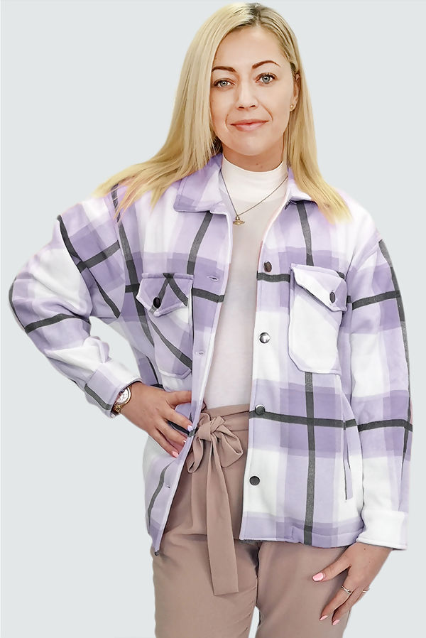 Lilac Checked Jacket