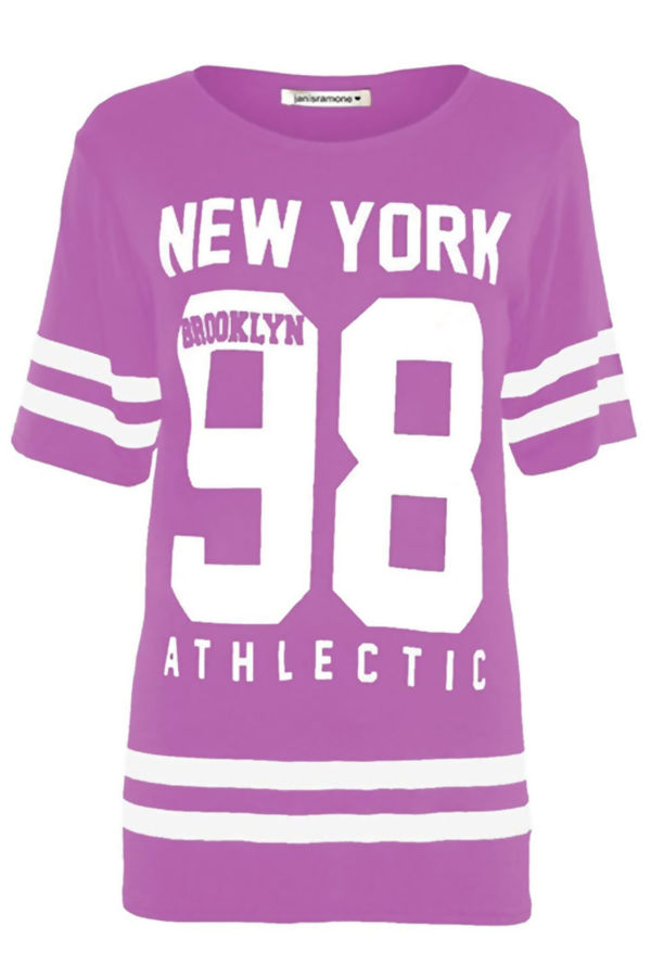 Lilac New York 98 Oversize T-Shirt