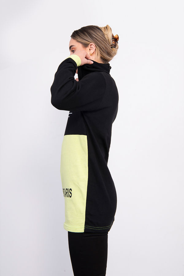 Lime New York Chic Hooded Sweatshirt