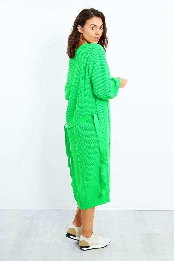 Longline Knit Belted Cardigan