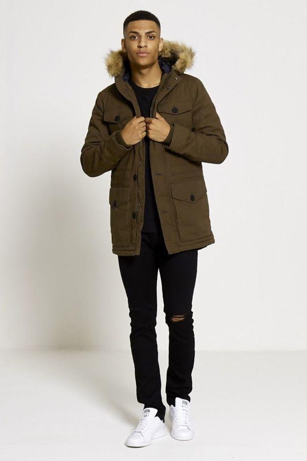 Luxe Fur Hood Parka Coat