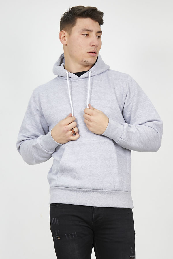 Light Grey Flex Fleece Pullover Hoodies