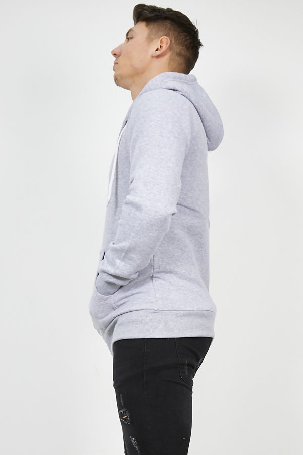 Light Grey Plain American Fleece Zip Up Hoody Jacket
