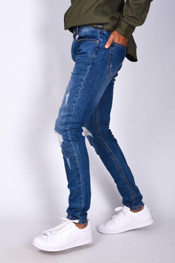 Mens Extreme Ripped Skinny Denim Jeans