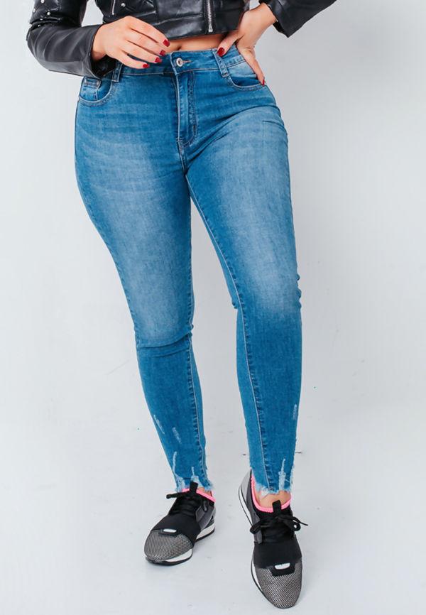 Mid Denim Wash Skinny Fit Jeans