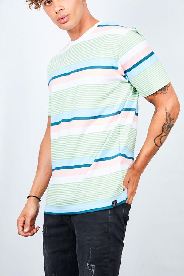 Mint Multi Stripe T-Shirt