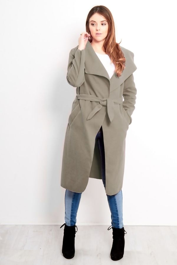 Mocha Long Waterfall Duster Coat